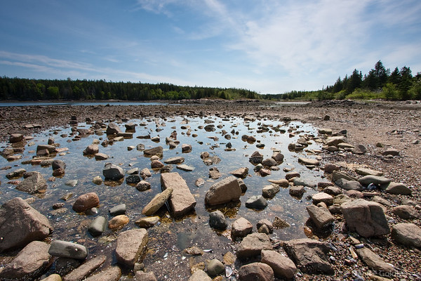 rocks in the water, Schoodic Peninsula