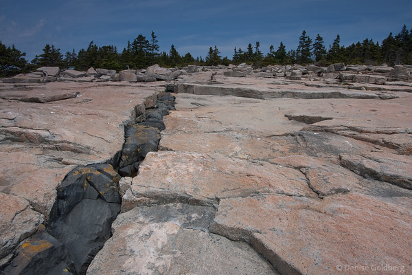 seam of dark rock, Schoodic Peninsula