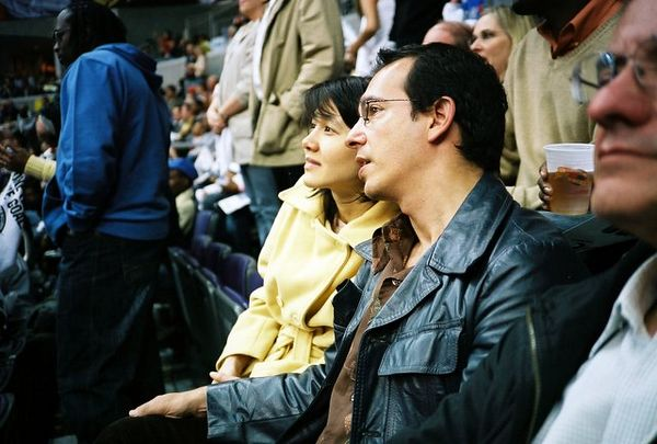 Dave and Joli enjoying  the game.  (Olympus XA)