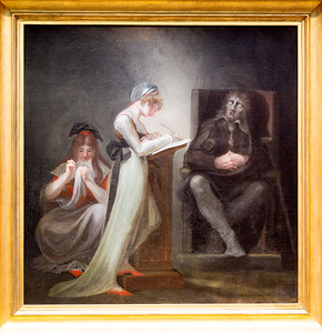 "Fuseli's ""Milton Dictating to His Daughter""  (Milton was then blind.)"
