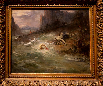 "More salon art: Henry Levy's 1870 ""Death of Orpheus"""