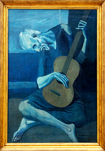 "A special favorite of mine is Pablo Picasso's 1903: ""The Old Guitarist"""