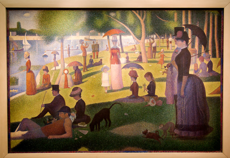 """Georges Pierre Seurat's 1884 pointillist painting, """"A Sunday Afternoon on the Island of La Grande Jatte"""""""