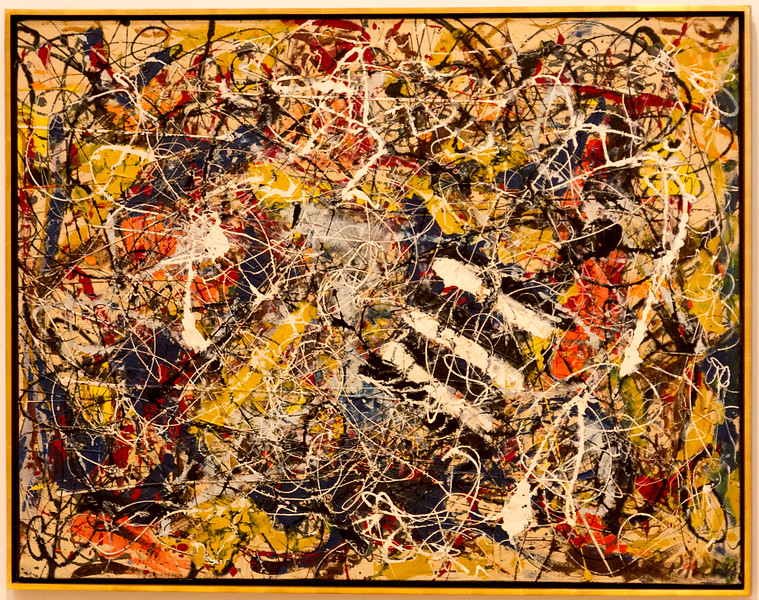 Now we're in modern art.  This is a not-yet--labeled painting is probably by Jackson Pollock.