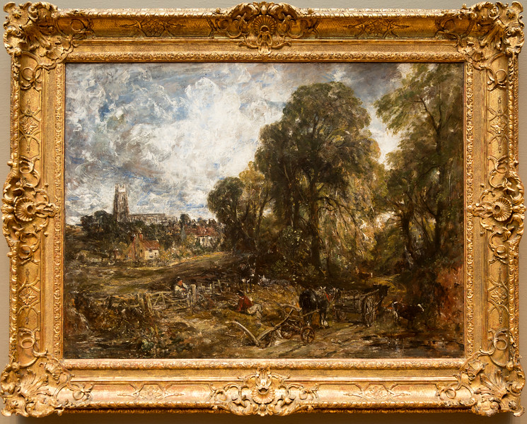 """John Constable's 1836 pastoral, """"Stoke by Nayland"""""""
