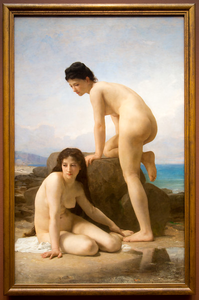 """The height of salon art: William Adolphe Bouguereau's 1884, """"The Bathers"""""""