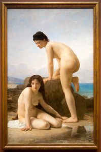 "The height of salon art: William Adolphe Bouguereau's 1884, ""The Bathers"""