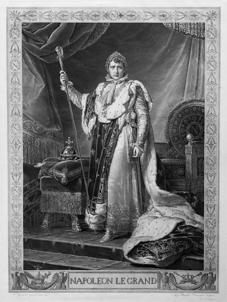How Napoleon turned his back on the revolution: Gerard's engraving of Napoleon le Grande.