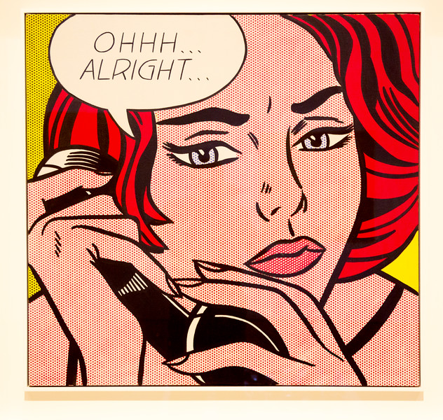 """Roy Lichtenstein's 1960 painting, """"Ohhh Alright,"""" sold for $46 million in 2005!"""