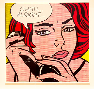 "Roy Lichtenstein's 1960 painting, ""Ohhh Alright,"" sold for $46 million in 2005!"