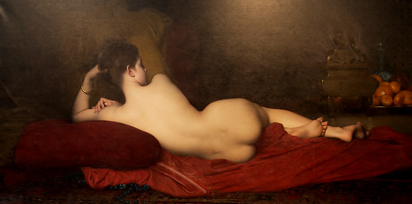 "Jules Joseph Lefebvre's 1874 ""Odalisque"" -- another popular, and pretty salacious, theme of salon artists"