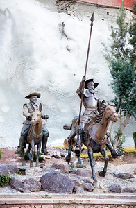 The town honors Don Quixote (and Sancho Panza).