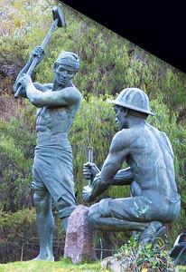 Sculpture honoring Guanajuato's miners