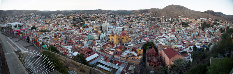Panoramic view of Guanajuato.  (Enlarge it for details.)