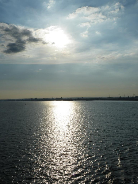 late afternoon sunshine in the river Humber