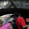 On the boat trip round the canals.