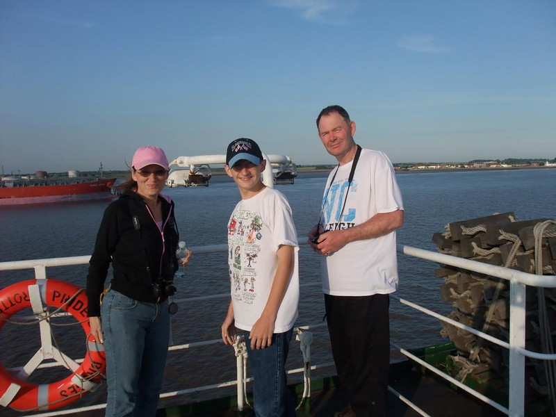 Tammy, Alex and Mike on the ferry