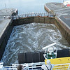 Our ferry has to negotiate a lock to get out to the river Humber.