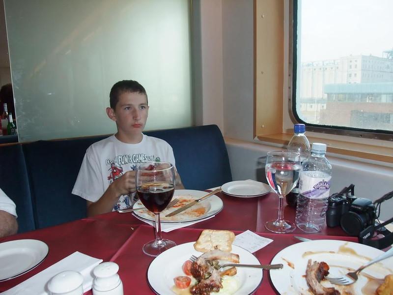 Alex at dinner