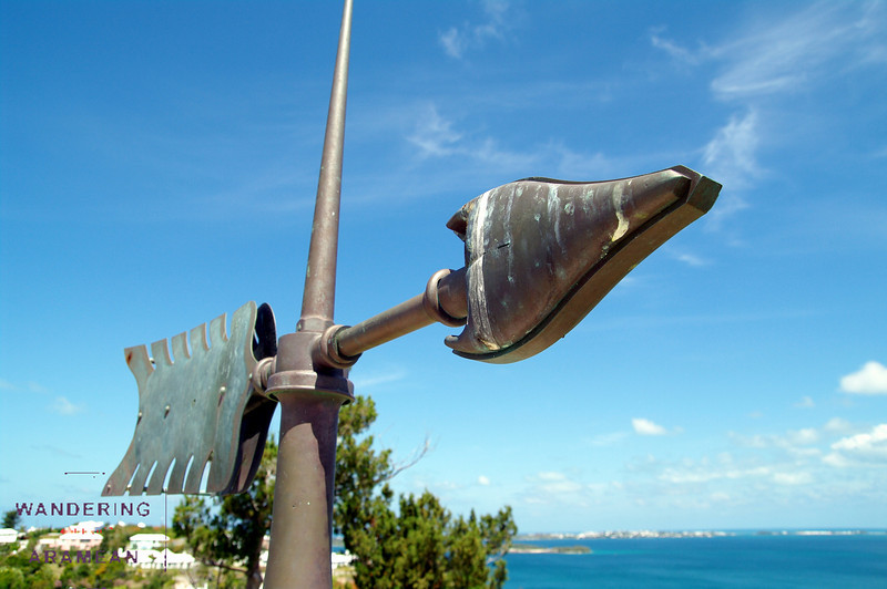 The old wind vane; it served on top of the lighthouse for ~100 years