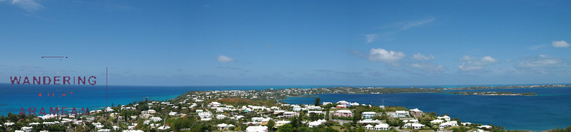 The view from atop the Gibbs' Hill Lighthouse