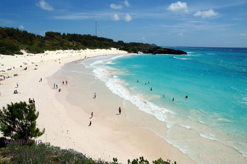 The world-famous Horseshoe beach