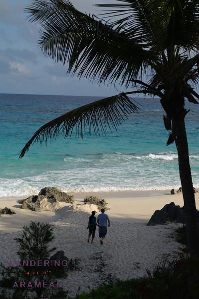 A quiet walk along the beach