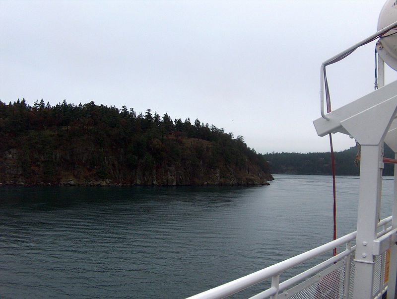working our way through the San Juan Islands