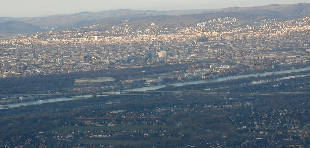 Vienna from the air, Dec. 3, 2007