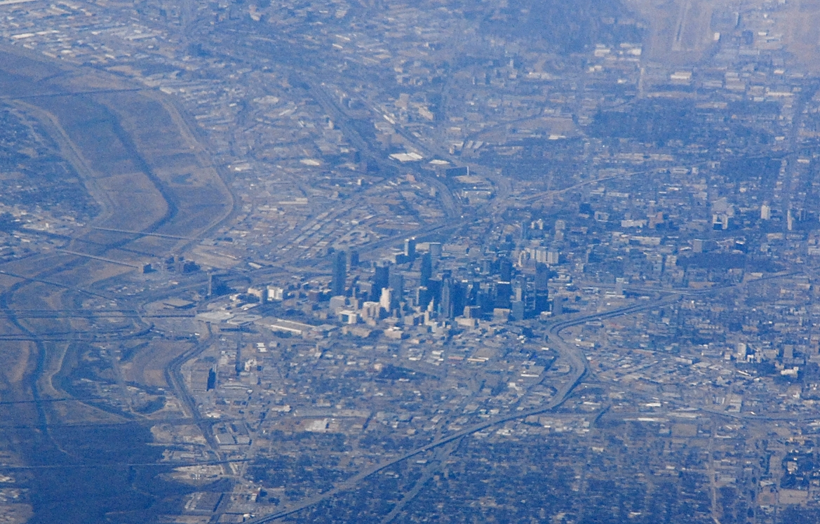 Flying over Dallas to Austin, TX, February 8, 2008