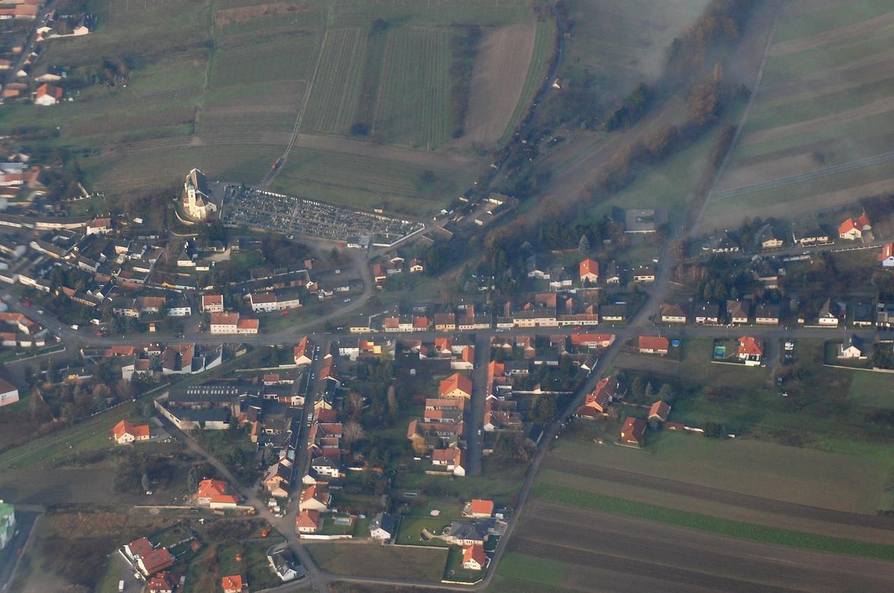Austrian village from the air, Dec. 3, 2007