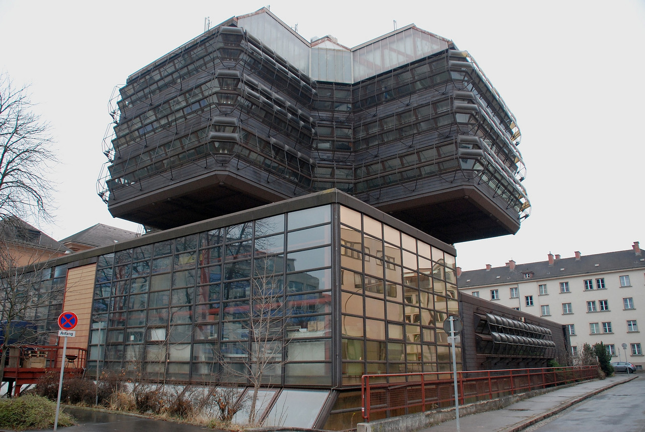 Leoben University, interesting architecture but building abandoned because of asbestos problems