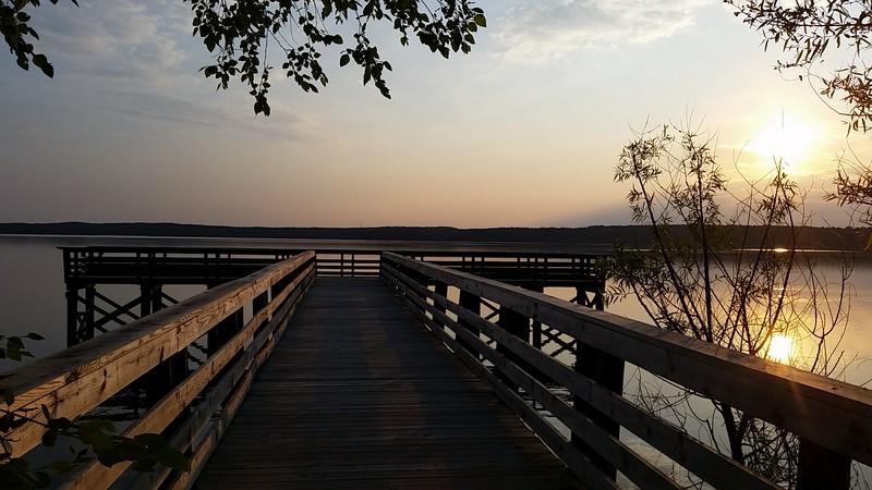 Sunrise at Falls Lake