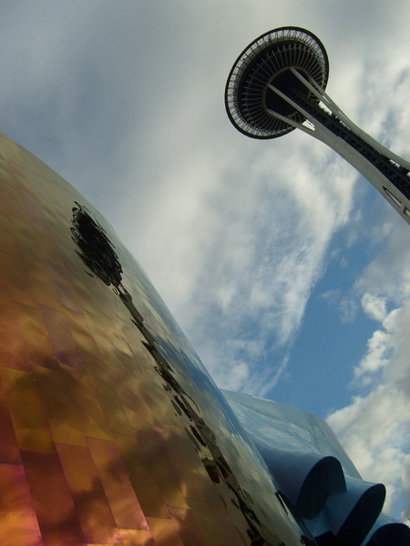 Reflection in the walls of Paul Allen's Experience Music Project