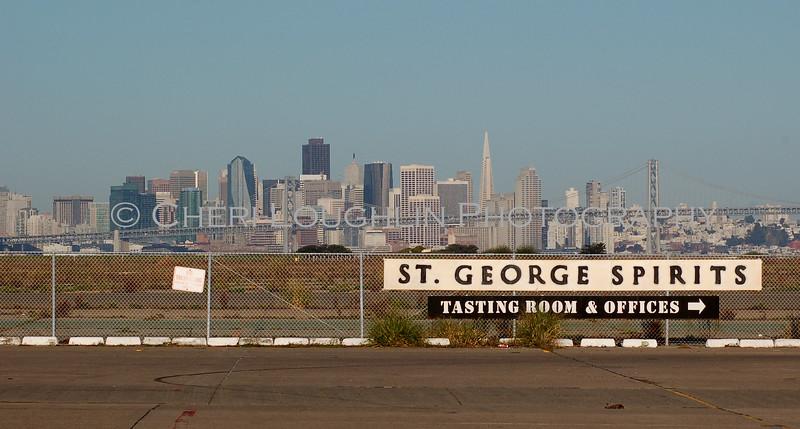 St George Spirits Morning San Francisco Skyline