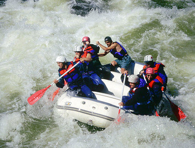 Rafting Pillow Rock on the Gauley River, West Virginia