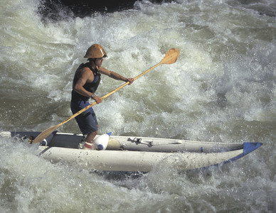 Stand-up kayaker on the Upper Gauley, WV