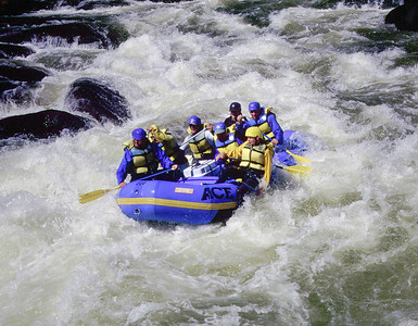 Rafting on the Gauley River, West Virginia