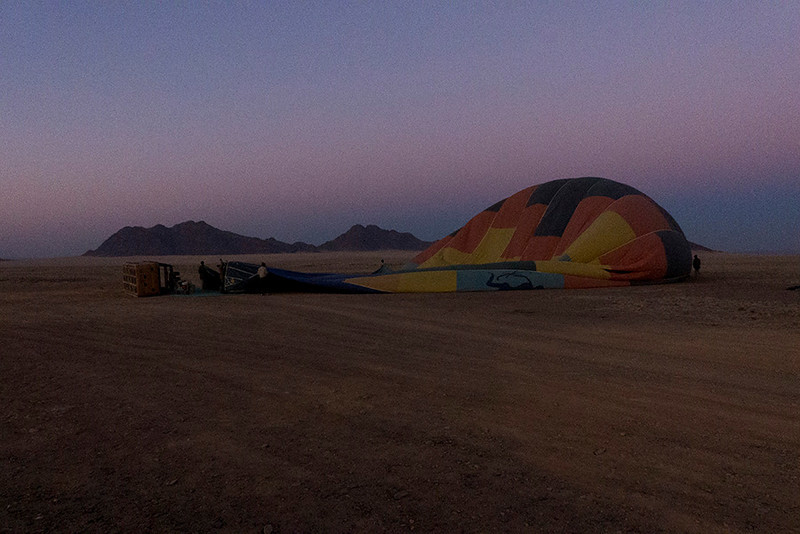 The following morning Larry opted for a sunrise balloon ride.