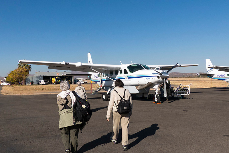 Now it's time to board our small plane and head for the Namib Desert.