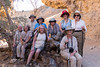 Shellie (center front), Gloria (red hat) and Marge (not in this picture) joined us for the trip beginning in Windhoek to make our travel group complete. This picture was taken sometime later, but, since we travelers did not pose together too often, here we are!
