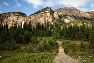 Pathway through the mountains and forest in Canada