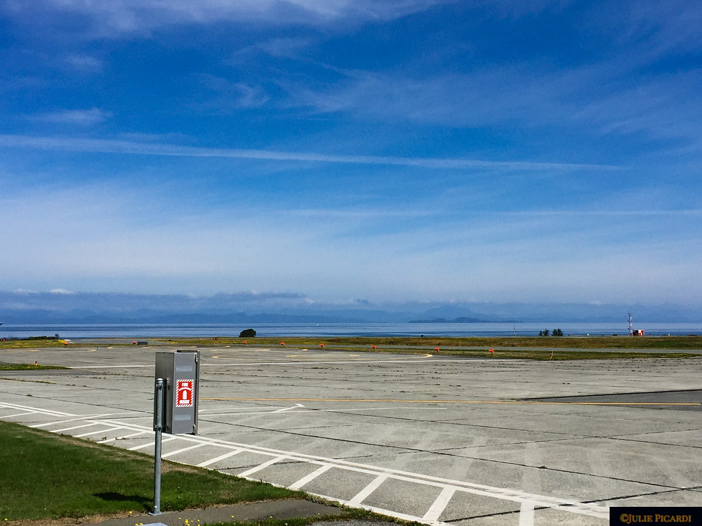 The airstrip at Port Hardy.