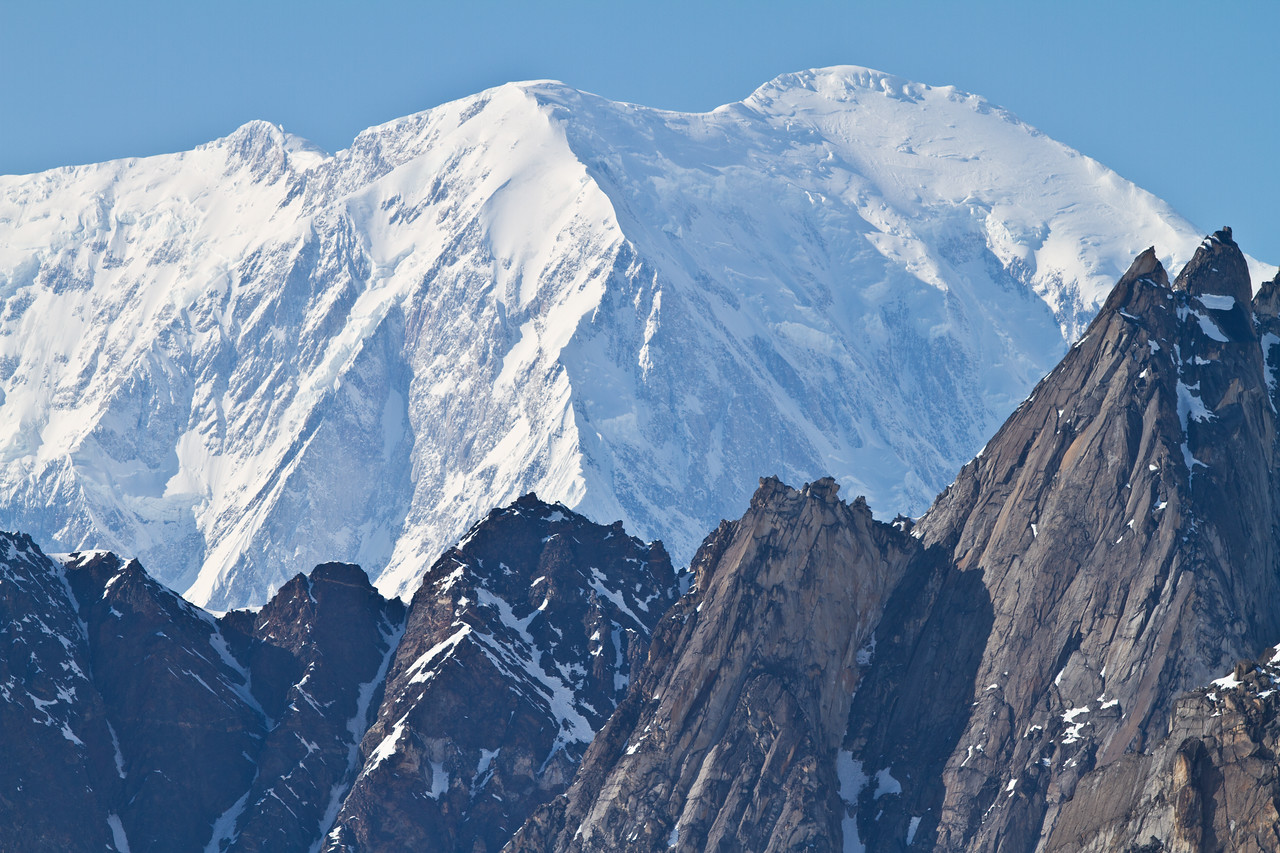 Mount Foraker with the Dragon's Spine in the foreground
