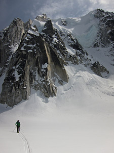 Jason takes in the views on the Pika Glacier