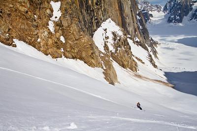 Dan skiing 747 Pass, Ruth Glacier, AK