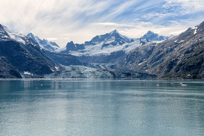 The Johns Hopkins Glacier in Glacier Bay National Park.