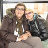 On the train; it was cold!
