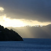 SUNRISE as we approach JOST VAN DYKE....EASTER SUNDAY morning.