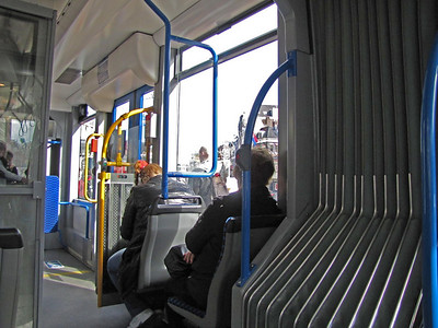 17-Inside the No. 5 tram on Leidsestraat.